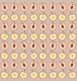 cute apple and peach pattern vector image vector image
