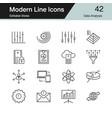 data analysis icons modern line design set 41 vector image vector image