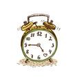 doodle alarm clock vector image vector image