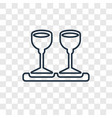 drinks concept linear icon isolated on vector image vector image