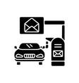 drive through mailbox black glyph icon vector image vector image