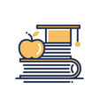 education - modern single line icon vector image vector image