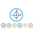 ellipse plot rounded icon vector image vector image
