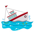 Fishing boat sinking in the ocean vector image