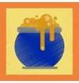 flat shading style icon halloween witches cauldron vector image vector image