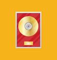 flat vinyl disk icon vector image vector image