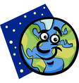 funny earth planet cartoon vector image