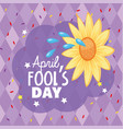 funny flower with water to fools day vector image
