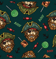 halloween colorful seamless pattern vector image vector image