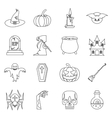 Halloween icons set outline style vector image vector image