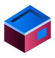 home building icon isometric style vector image vector image