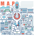 infographics elements concept local map vector image