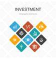 investment infographic 10 option color design vector image vector image