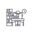 library line icon concept library linear vector image vector image