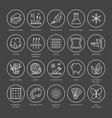 line icons of fabric feature garments vector image vector image