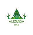 lizard logotype vector image