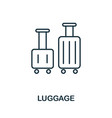 luggage outline icon thin line concept element vector image vector image