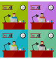 Men working in the office vector image