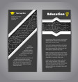 Modern education flyer with math background vector image