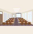 modern meeting conference presentation classroom vector image