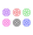 modern octagon chinese window frame art vector image vector image