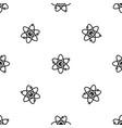 molecules of atom pattern seamless black vector image vector image