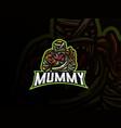 mummy sport logo design vector image vector image