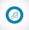 music icon bold blue circle border vector image vector image