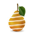 pear cut in a spiral isolated image realistic vector image vector image