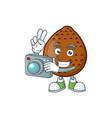 photographer fresh salak mascot for food healthy vector image vector image
