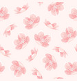 pink cherry sakura japanese spring flowers pattern vector image