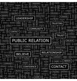 PUBLIC RELATION vector image