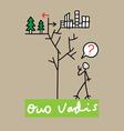 Quo vadis vector image