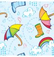 rainy pattern vector image