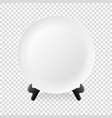 realistic white food empty plate icon on a vector image vector image