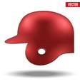 Red baseball helmet vector image vector image
