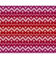 Red knitted ornament seamless pattern vector image vector image