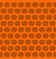 seamless halloween pattern with jack o lantern vector image