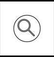 search line icon mobile sign and magnifier vector image vector image
