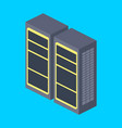 server rack isometric vector image