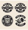 set logos badges shirt print for gym theme vector image vector image