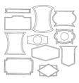 Set of hand drawn vintage logo shapes vector image vector image