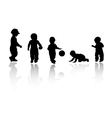 Silhouettes - children vector | Price: 1 Credit (USD $1)