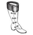 single boot vintage engraving vector image vector image