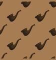 smoking pipe pattern vector image vector image
