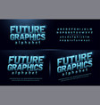 sport future blue glow modern alphabet fonts vector image vector image