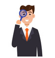 tax inspector character flat style vector image vector image