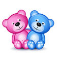 teddy bear couple vector image vector image