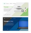 templates set for digital marketing and teamwork vector image vector image