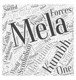 The Kumbh Mela Word Cloud Concept vector image vector image